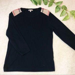 Authentic Burberry Plaid Shoulder LS Shirt